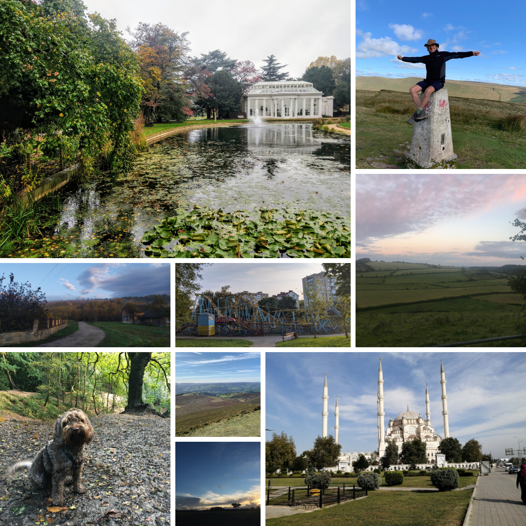 A second collage of nine photos from TAP's London to Lviv virtual challenge
